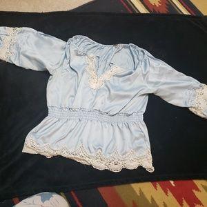 Poof blouse babydoll shirt size m